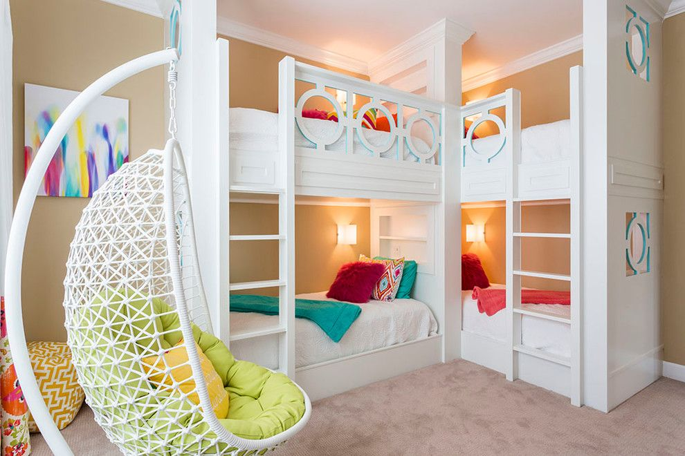 cool bunk beds built into wall. Corner Bunk Beds In Kids Transitional With Built-in Bed Beige Wall Cool Built Into N