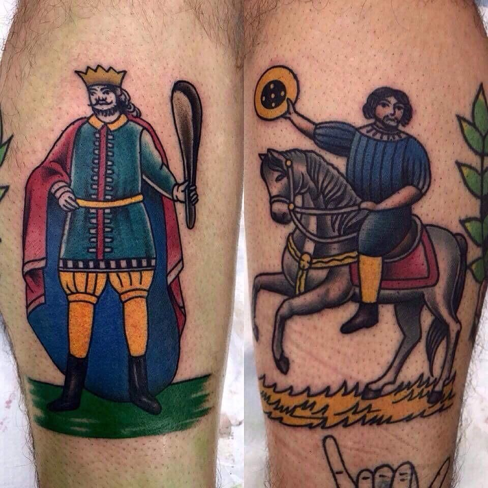 Traditional sicilian scopa cards artist pea blackarm from tattoo buycottarizona
