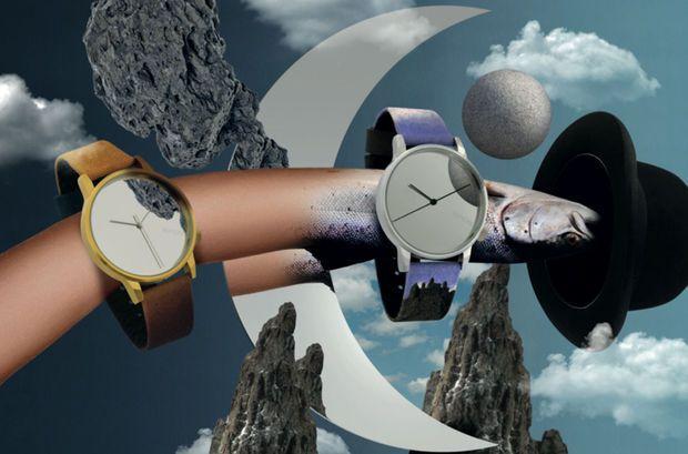 Komono lanceert horlogecollectie geïnspireerd op het werk van Magritte