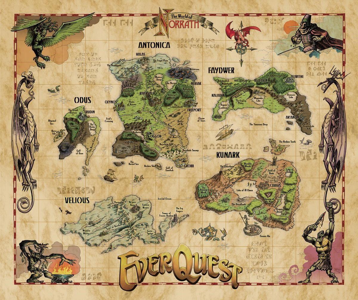 The EQ EverQuest Map Preserve a Classic Kunark Velious
