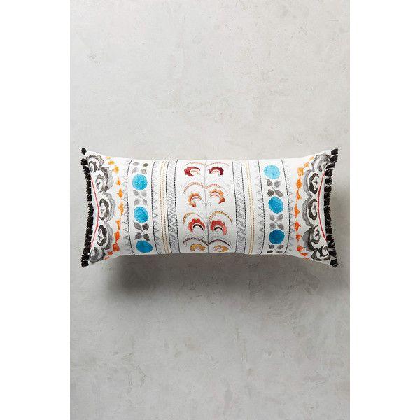 Anthropologie Seraphita Pillow ($98) via Polyvore featuring home, home decor, throw pillows, turquoise, turquoise throw pillows, turquoise accent pillows, anthropologie, turquoise home decor and embroidered throw pillows