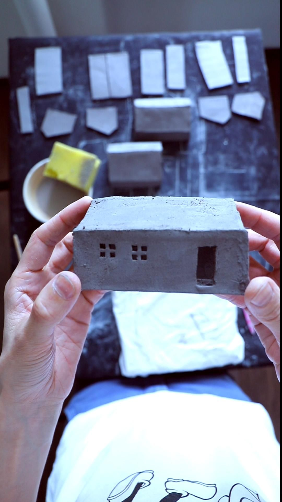 Handmade Ceramic Houses and Collectible items by t