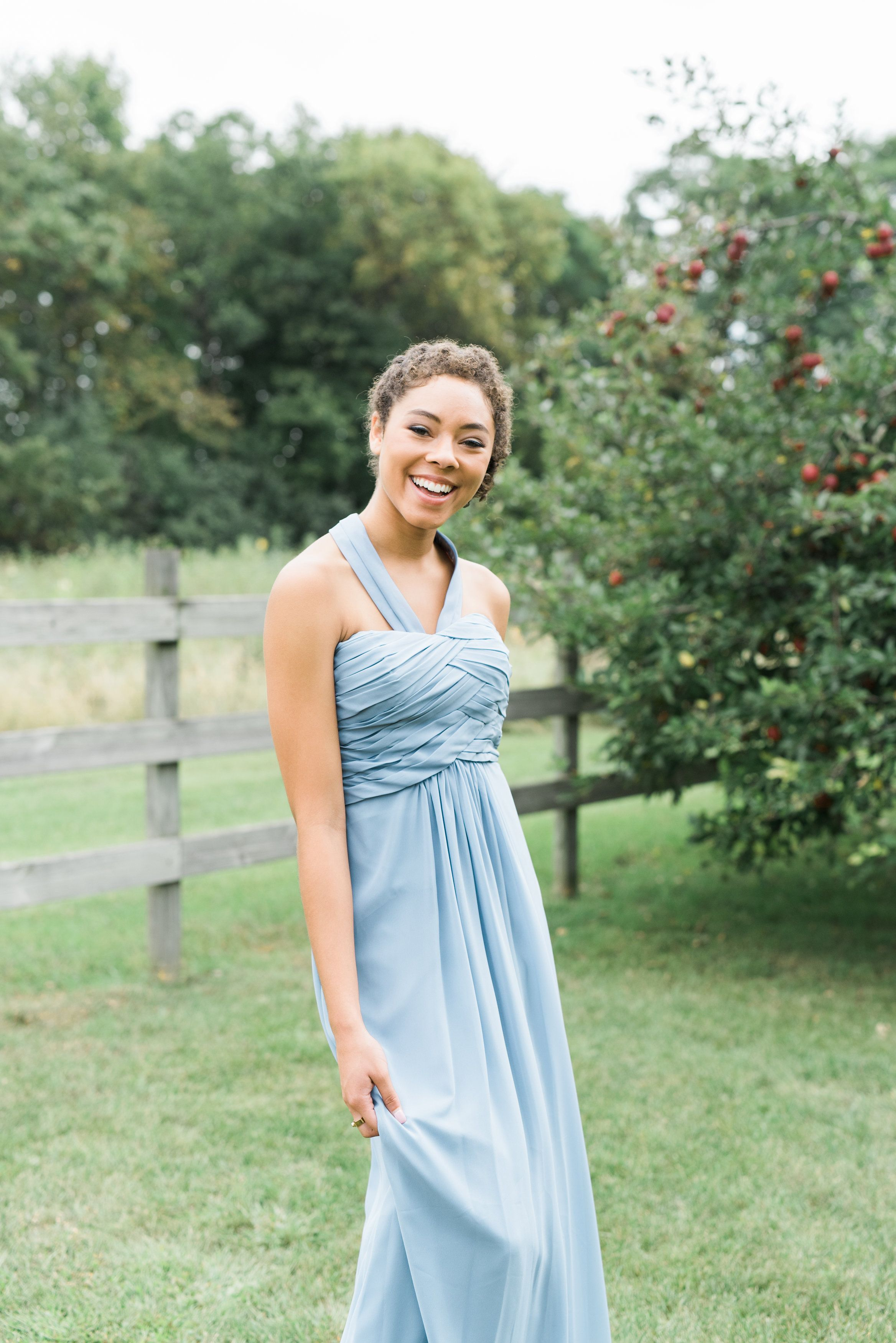 Vera wang wedding dress rental  Light blue bridesmaid dress Elizabeth Haase Photography Coqui