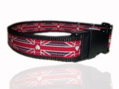 I Love Britain Dog Collar