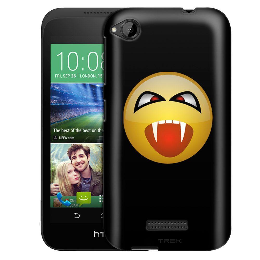 HTC Desire 320 Vampire Smiley on Black Slim Case