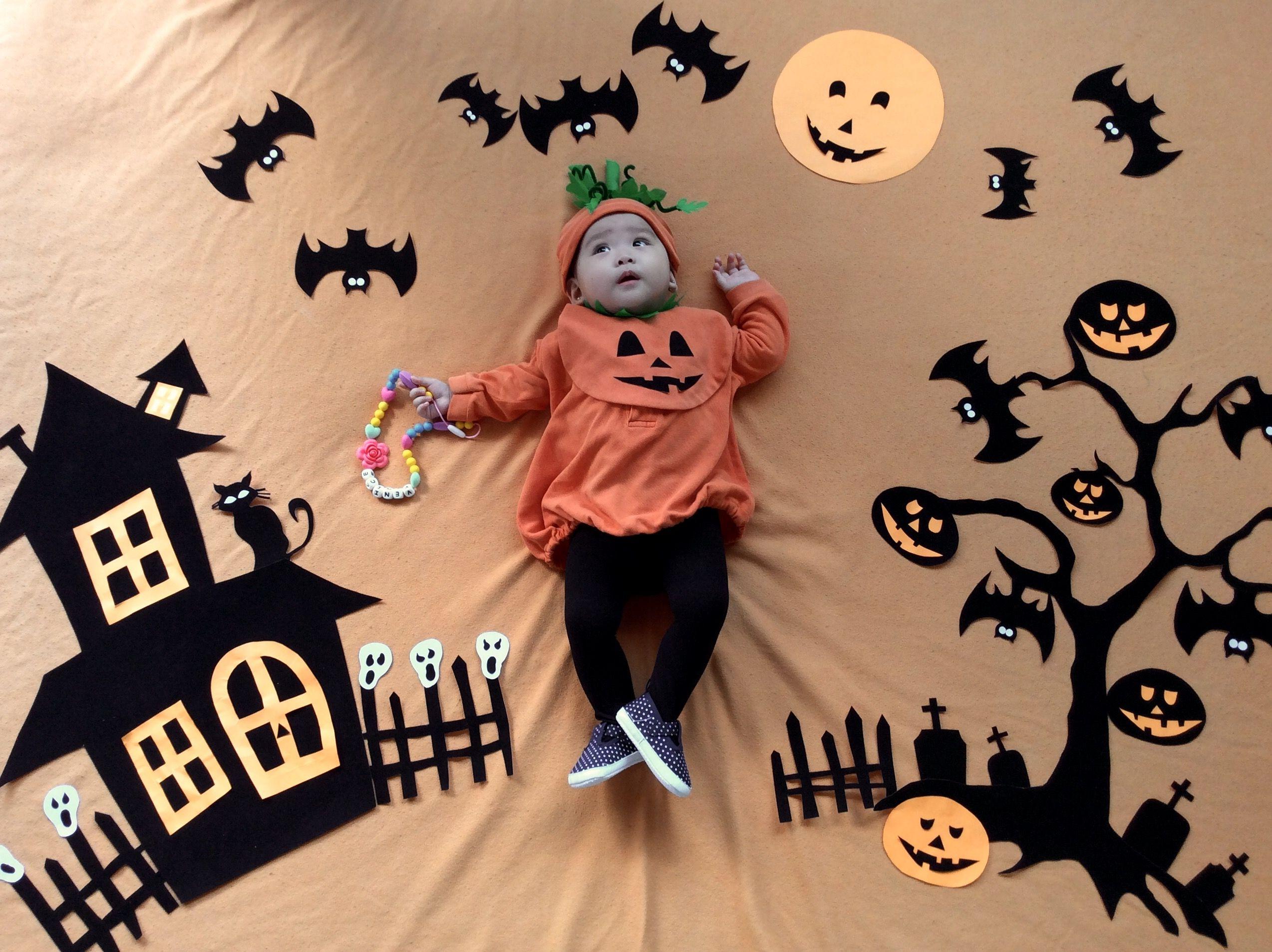 Baby Halloween Diy Photoshoot Baby Halloween Diy Baby Photoshoot Boy Baby Halloween