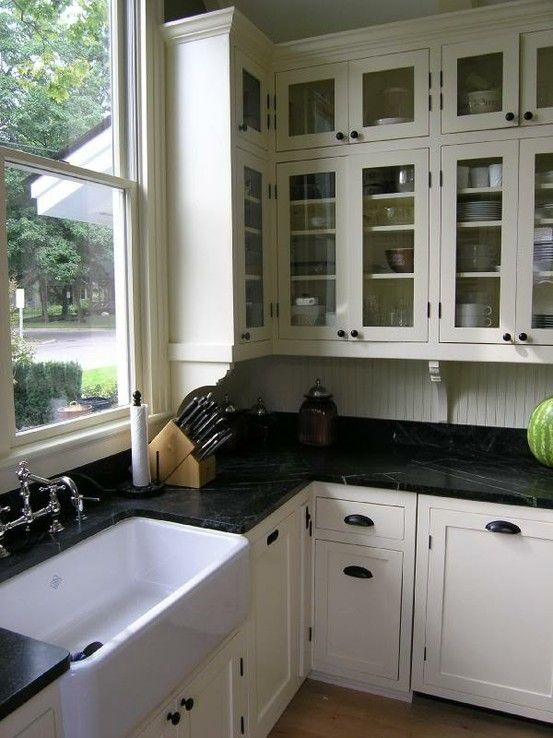Best White Cabinets With Black Countertops Google Search 400 x 300