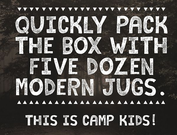Camp Kids fonts and letters #freefonts #commercialfonts
