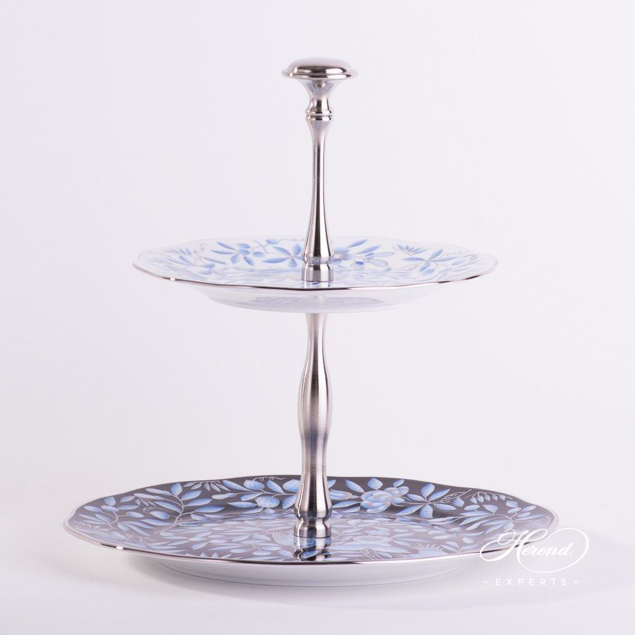 Cake Stand 2 Tier Jardin Zoologique Blue With Images