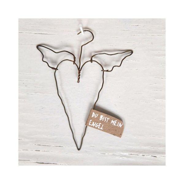 drahtherz ornament du bist mein engel weihnachten pinterest draht engel und basteln mit. Black Bedroom Furniture Sets. Home Design Ideas
