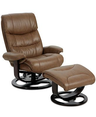 Renegade Leather Recliner with Ottoman - Chairs - Furniture - Macyu0027s  sc 1 st  Pinterest & Renegade Recliner Chair with Ottoman $500 Macys swivels | WW ... islam-shia.org