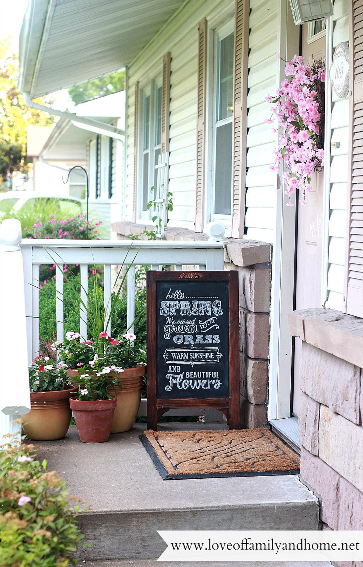stunning small front porch spring decorating ideas porch