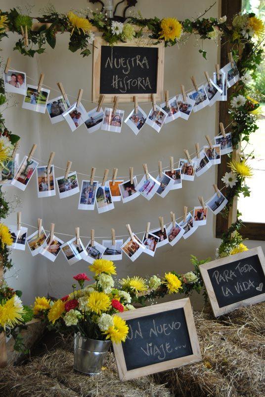 Tendedero de fotos boda adriana y alex for Decoracion 40 aniversario de bodas