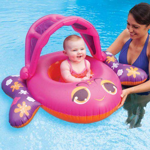 Swim Ways Sun Canopy Baby Boat Infant Pool Float Pink Fish Swim Ways  sc 1 st  Pinterest & Swim Ways Sun Canopy Baby Boat Infant Pool Float Pink Fish Swim ...