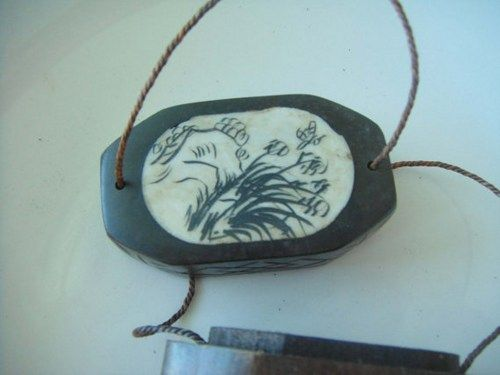 Chinese Teak Wooden Hand Carved Engraved Bone Carrying Case Painted/ A | shangrilacraft - Home Decor on ArtFire