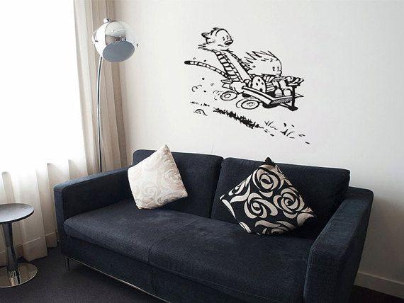 Calvin And Hobbes Vinyl Wall Decal By BlackCatDesignsCo On Etsy Part 70