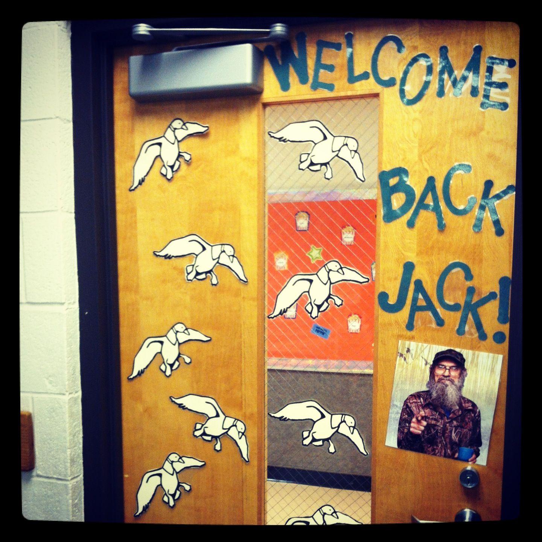 Classroom door decoration. Duck Dynasty theme.  sc 1 st  Pinterest & Classroom door decoration. Duck Dynasty theme. | Classroom Ideas ... pezcame.com