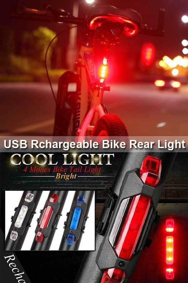 5 LED 4 Modes Bike Bicycle Cycling Front Rear Tail Light Lamp