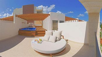 Terrace/Patio at the Excellence Playa Mujeres (All Inclusive Resort), Playa Mujeres, Mexico