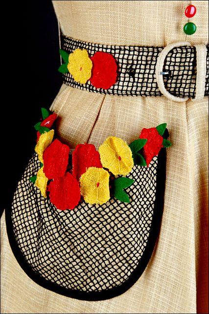 Ode to beautiful pockets. Crochet detail.