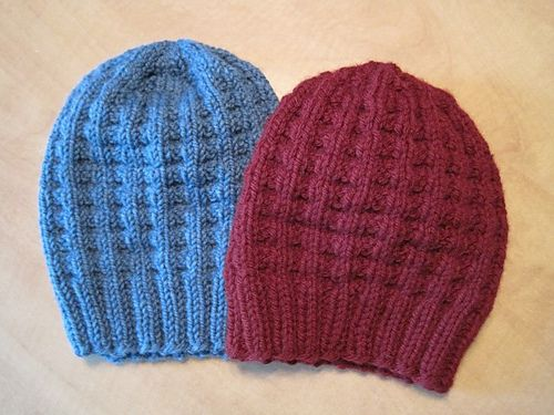 9abf363d561 Ravelry  Bulky Waffle Hat pattern by Linda Suda
