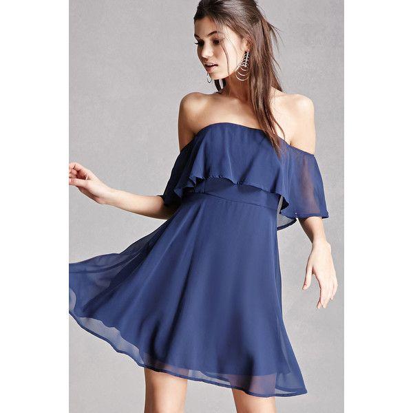 Forever21 Soieblu Off The Shoulder Dress 55 Liked On Polyvore