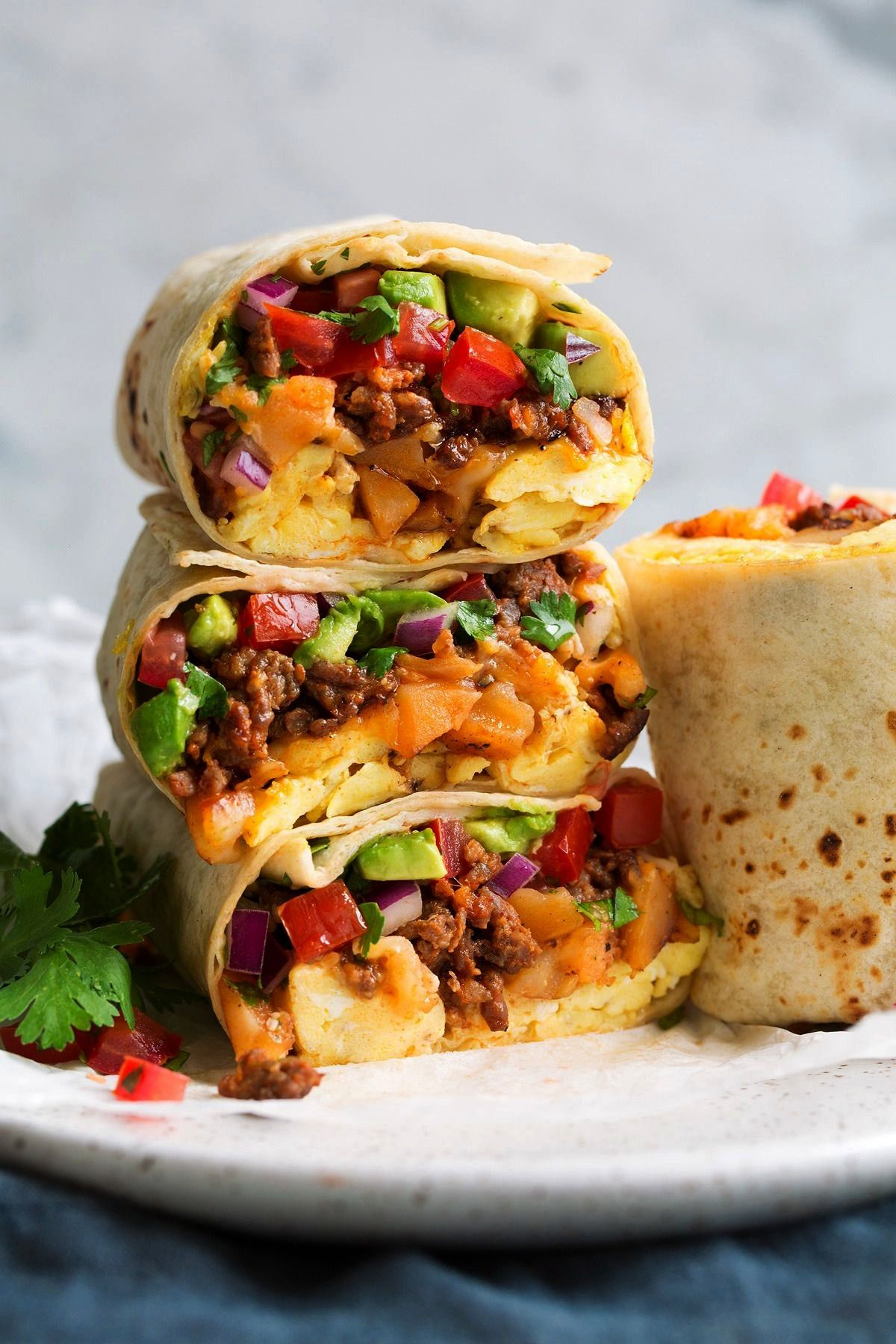 burrito -Breakfast burrito -  Healthy breakfast burritos stuffed with sweet potatoes, black beans,