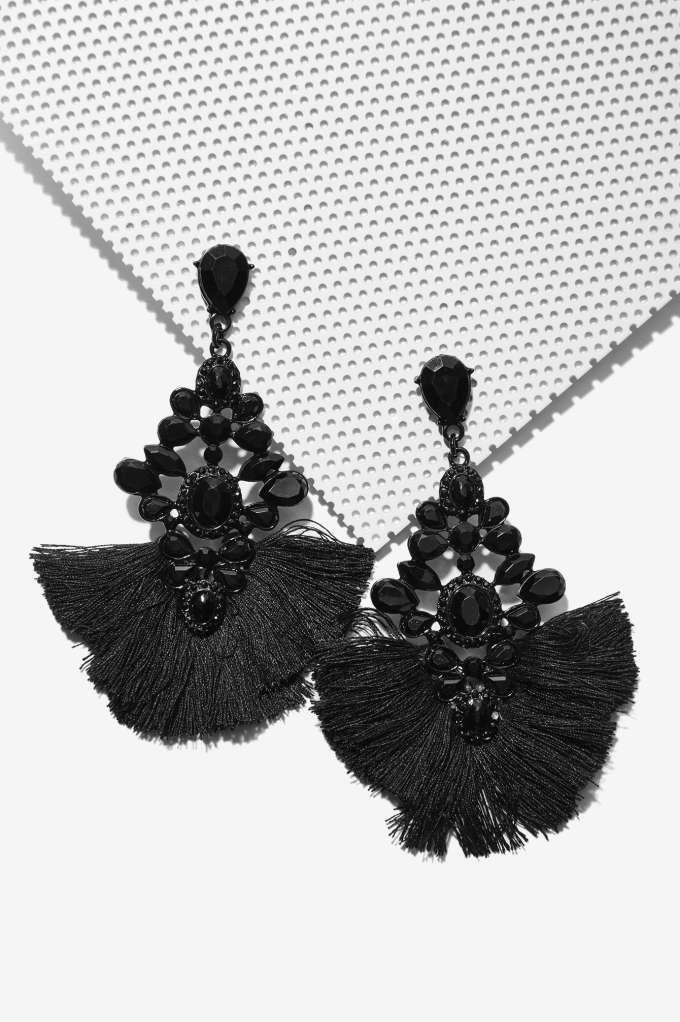Back to Black Chandelier Earrings - Accessories | Dark Romance ...