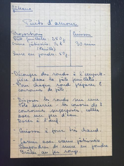 Recettes De Famille Cahiers De Cuisine Familiale Patisserie Gateaux Puits D Amour Recette En Famille Cahier De Cuisine Recette De Cuisine Familiale