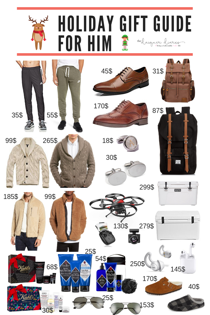 2018 Mens Gift Guide For Holiday Shopping Ideas Boyfriend Husband Friend Brother Dad Etc