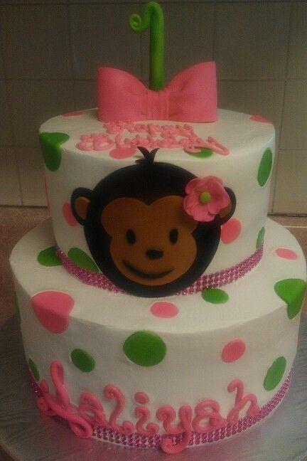 Simple, cute monkey and poka dots