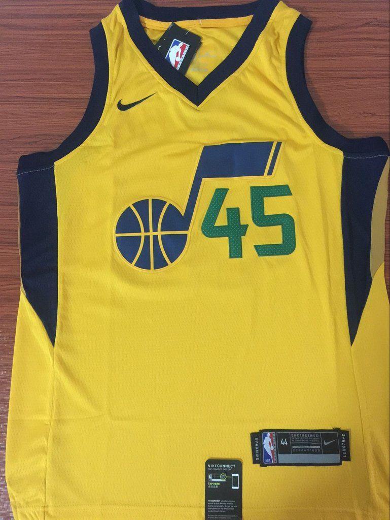 d487e774f Men 45 Donovan Mitchell Utah Jazz Jersey Yellow Swingman Fanatics ...