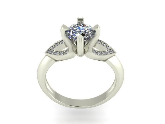 JEWELRY ENGAGEMENT RING STL FILE FOR DOWNLOAD AND PRINT- CC29 | 3D Print Model