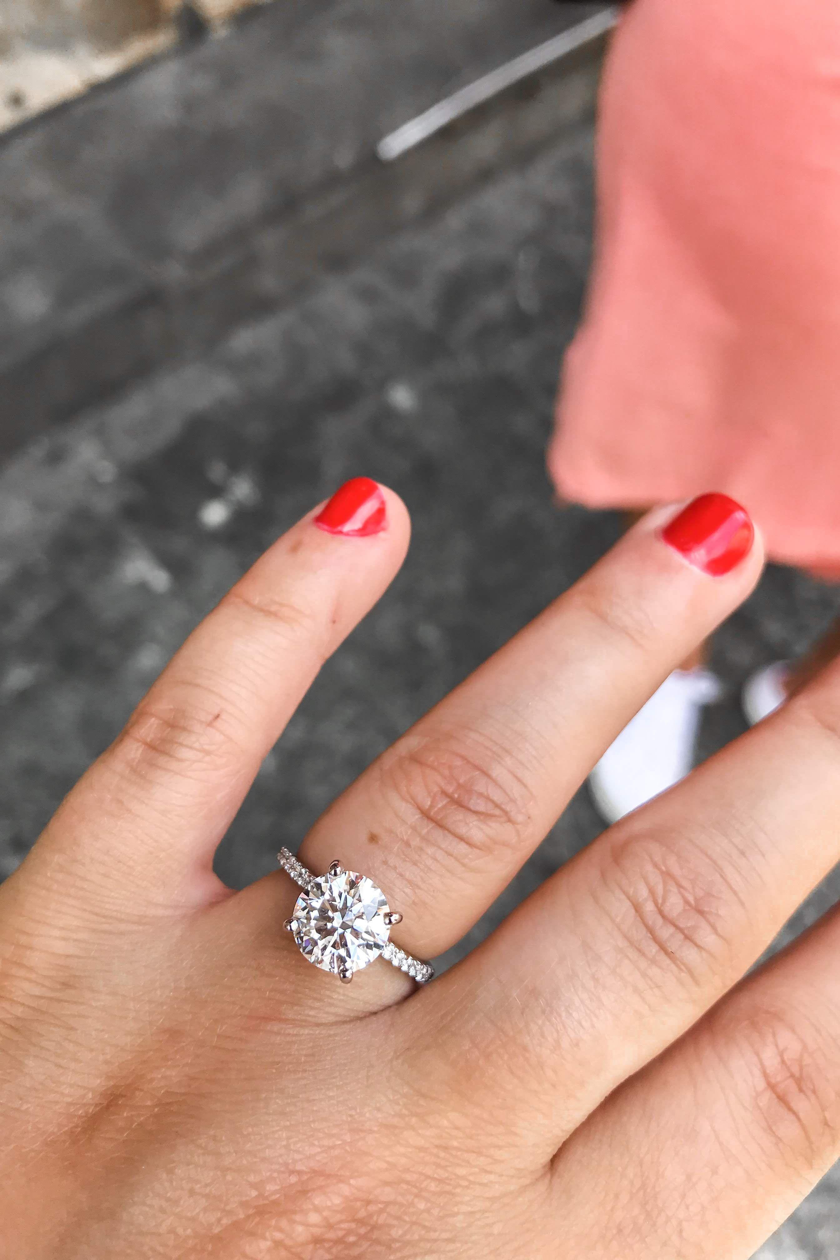 I Got Engaged Q A Round Diamond Engagement Rings Engagement Engagement Rings