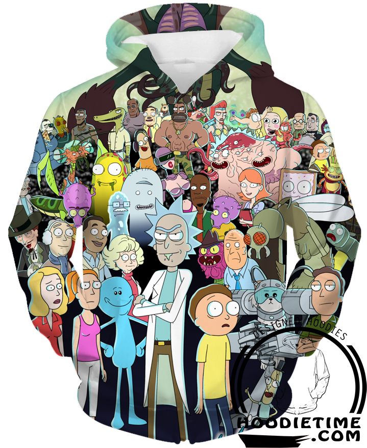 Rick and Morty All Character Hoodie - Rick and Morty Hoodies  ef92a084bd7c