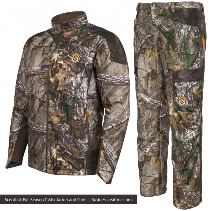 ac937497371fe ScentLok Full Season Taktix Jacket and Pants | The jacket has a chest  pocket for a