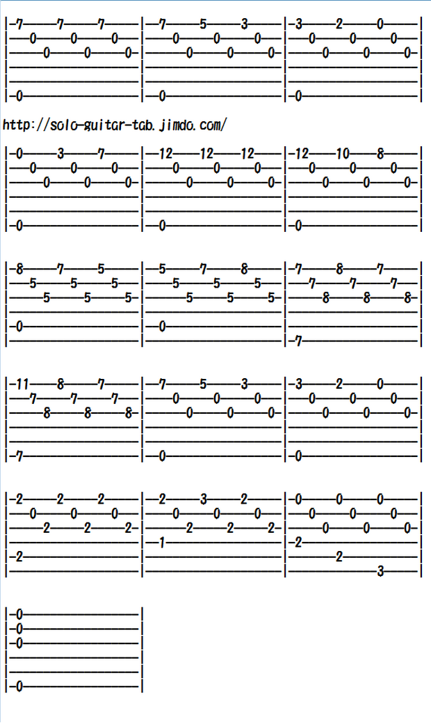 Easy Classical Guitar Sheet Music (Tabs), Romance Anonimo   Guitar ...