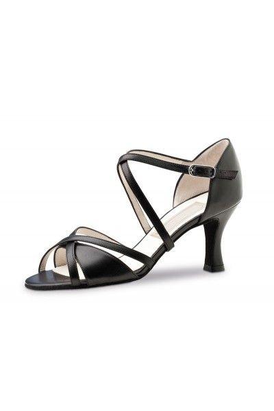 Chaussure de danse cuir noir chic