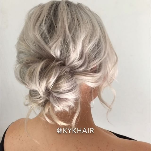 Textured Donut Bun Trick On Short Hair Short Hair Bun Hair Donut Bun Hairstyles