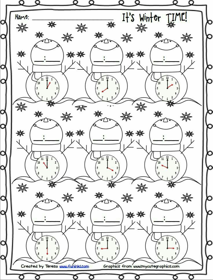 Time Worksheets telling time worksheets kindergarten : Pin by Jolanta Mucha on jola | Pinterest | Maths, Math clock and ...