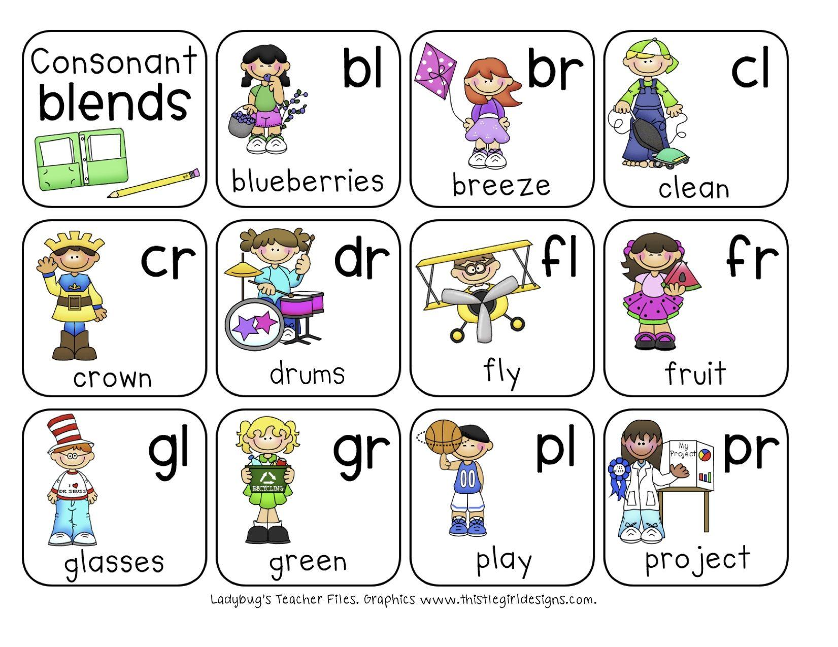 Consonant Blends Chart