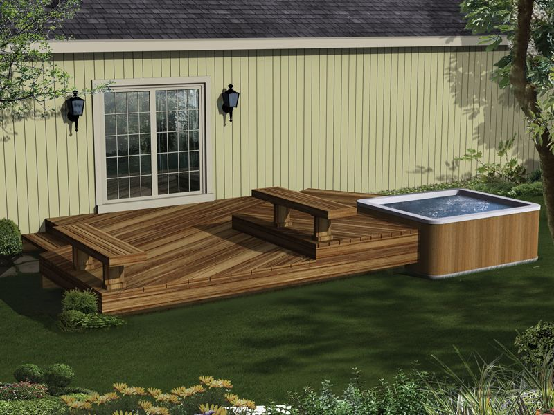 Bissinger Two Level Spa Deck Plan 002d 3019 House Plans