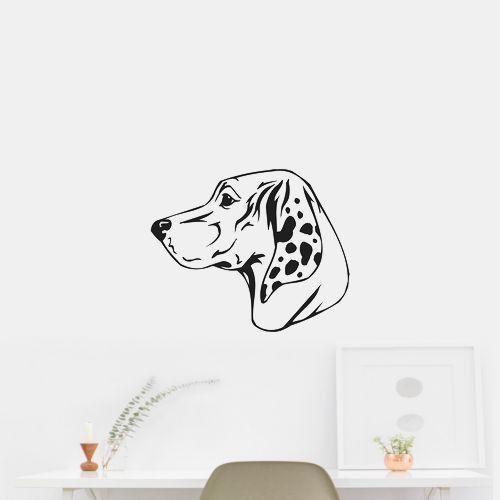 Porcelaine Dog Puppy Breed Wall Car Vinyl Decal Sticker