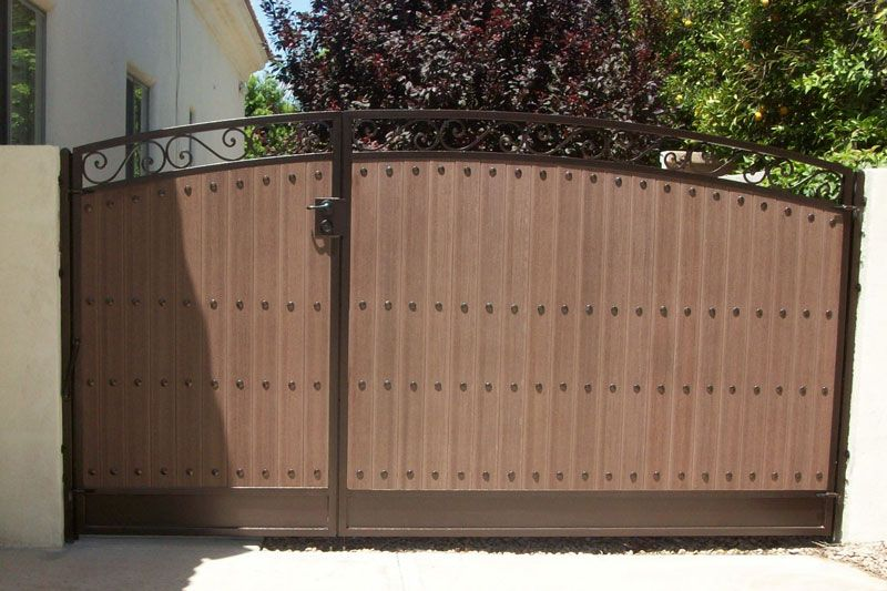 Custom Wrought Iron Rv Gate With Images Iron Gate Design Gate