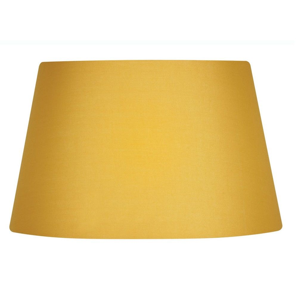 Oaks S901 14 Ms Mustard Yellow 14 Vintage Cotton Drum Lamp Shade Lamp Shade Drum Lampshade Yellow Lamp