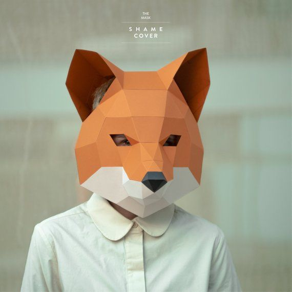 Make Fox Mask,DIY Animal Head,3D Polygon Masks,Instant Pdf