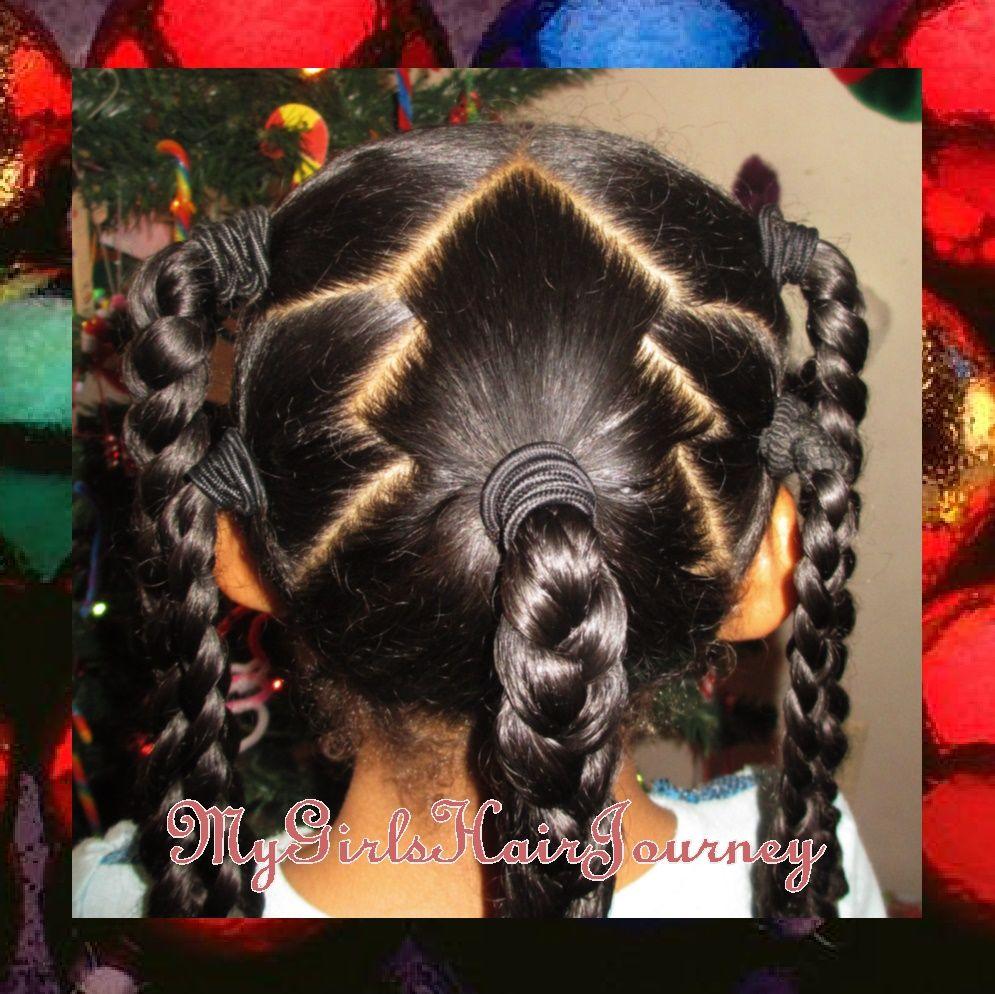 Christmas Hairstyles For Black Girls.Christmas Tree Cute Hairdos Single Photos In 2019 Hair