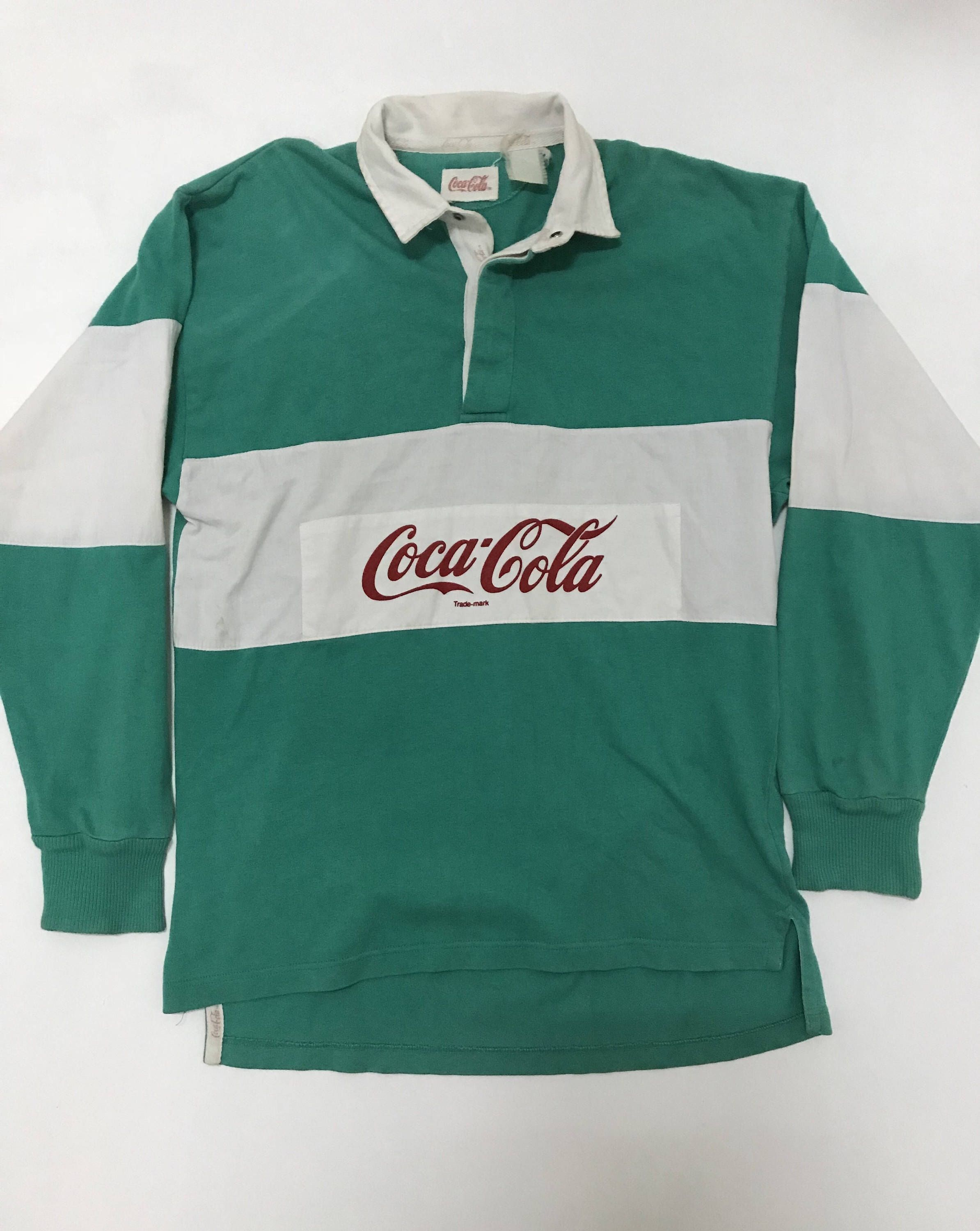 f8817987 Vintage Coca Cola Polos Shirt Stripes Rugby Shirt Rare Light Size by  clothinghunter on Etsy https