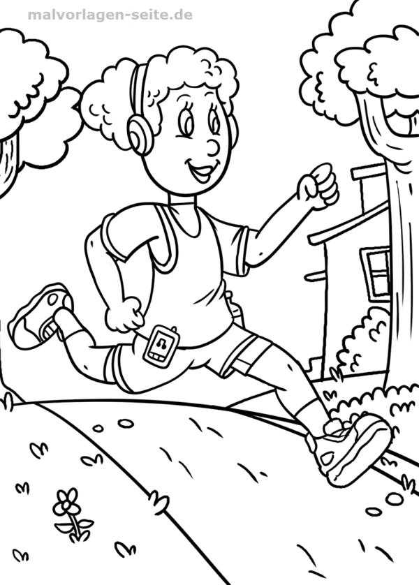 Malvorlage Laufen Leichtathletik Sport Malvorlagen Vorlagen Ausmalen