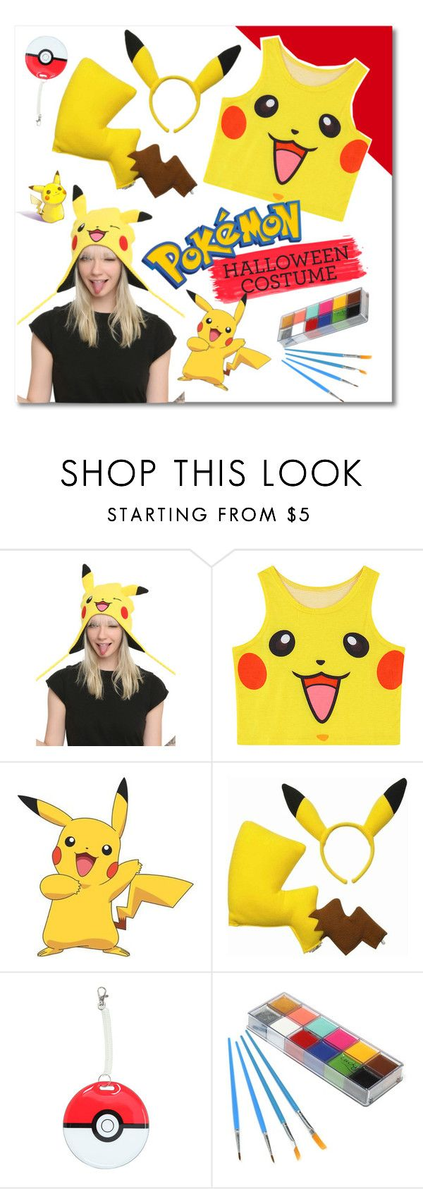 "halloween costume - pikachu!""groove-muffin ❤ liked on polyvore"